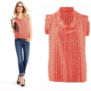 CABI Madeline Spotted Blouse Sm